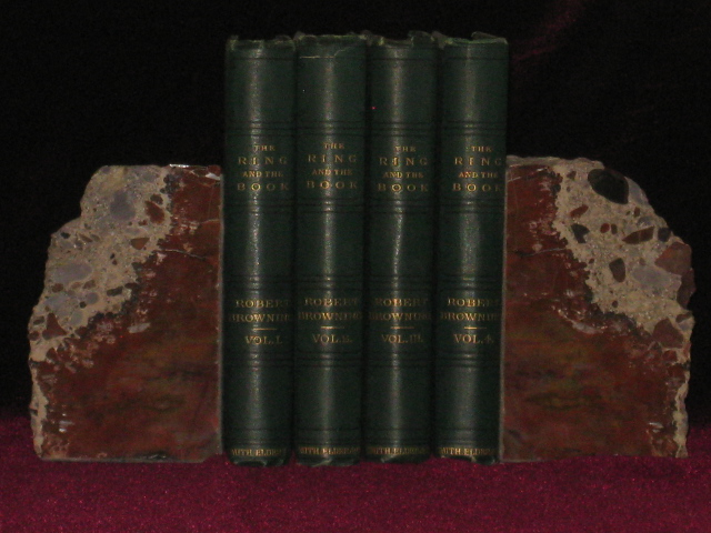 THE RING AND THE BOOK. Four Volumes. Robert Browning.