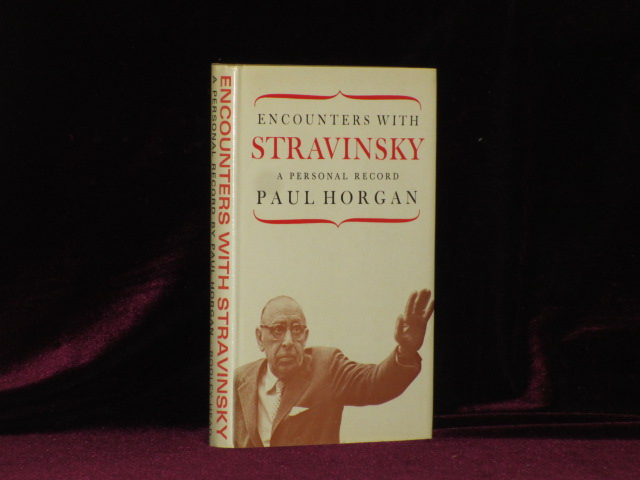 ENCOUNTERS WITH STRAVINSKY a Personal Record. Graham Greene's Copy. Paul Horgan, Graham Green, Signed and Annotated Graham Greene Copy.