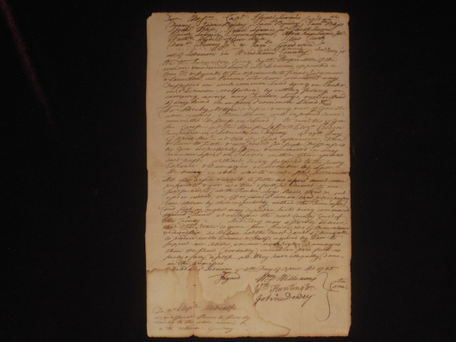 Autograph Document Signed. William Williams, Signer of the Declaration of Independence.