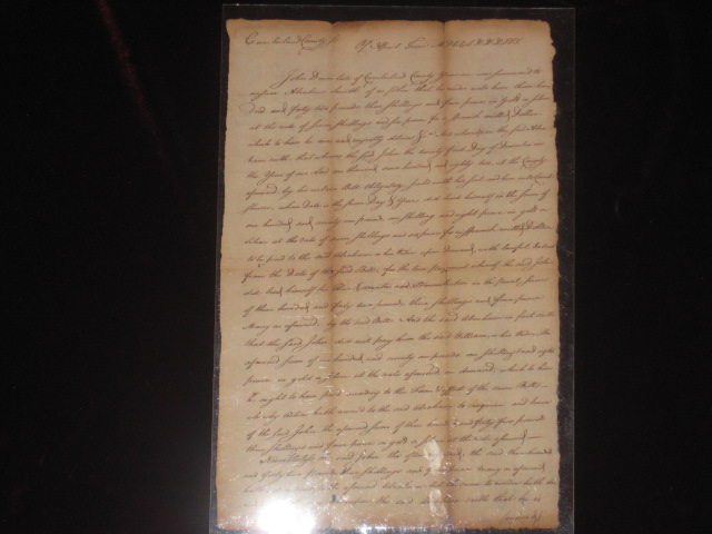 Manuscript Document Signed. James Smith, Signer of the Declaration of Independence.