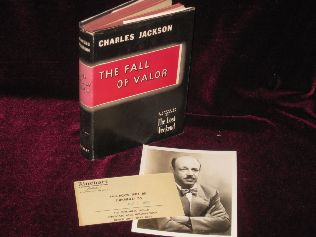 The Fall of Valor (With Promotional Photo Signed by the Author). Charles Jackson.