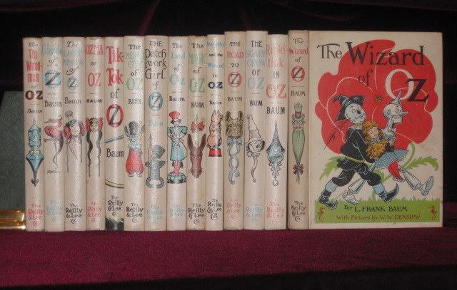 SET OF OZ BOOKS. 14 Volumes. L. Frank Baum.