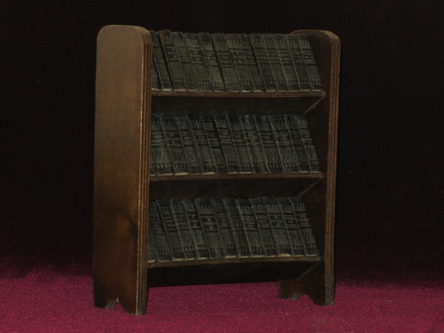 THE COMPLETE WORKS IN 40 VOLUMES. (Miniature Set on Wooden Presentation Shelf). William SHAKESPEARE.