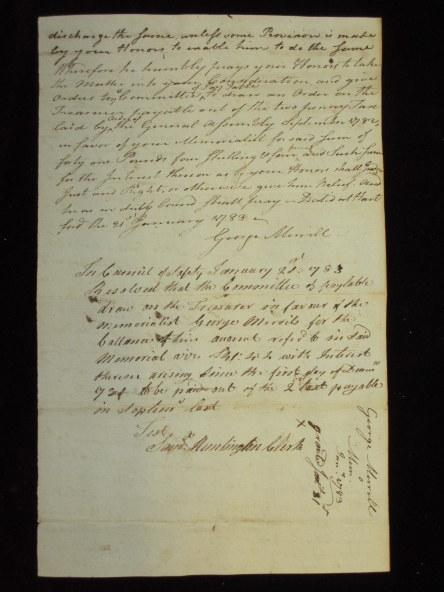 Manuscript Document Signed By Samuel Huntington and Two Related Documents. Samuel Huntington, Signer of the Declaration of Independence.