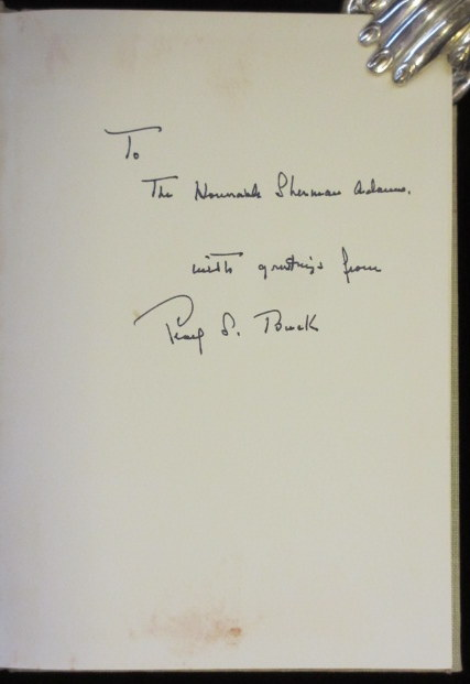 A CERTAIN STAR. Pearl S. Buck, SIGNED.