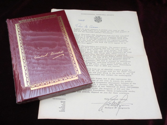 The Dream. Limited Edition, #274 of 500 Copies. Sir Winston Churchill.