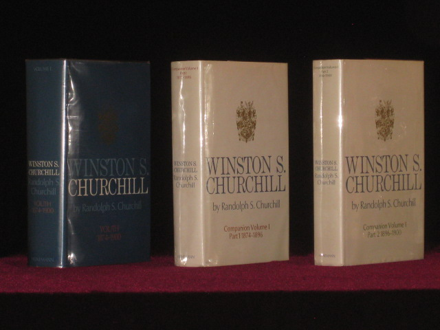 Winston S. Churchill, Youth 1874-1900, Volume I, (together with) Companion Volumes I, Parts 1 and 2. Randolph S. Churchill.