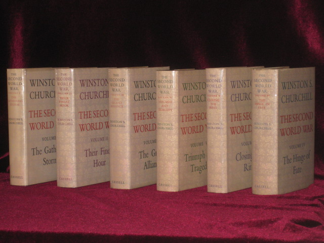 The Second World War (Six Volumes in Fine Dust jackets). Sir Winston S. Churchill.