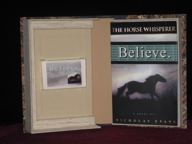 The Horse Whisperer [ with Publisher's Promotional Cassette and Custom Clamshell box). Nicholas Evans.