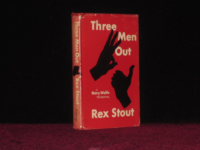 Three Men Out. A Nero Wolfe Threesome. Rex Stout.