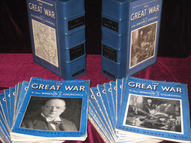 The Great War. Signed By Royal Navy Lt. D. K. Buchanan-Dunlop, Who Served on Admiralty Destroyer HMS Douglas. These Volumes Likely Saw Action. Sir Winston S. Churchill.