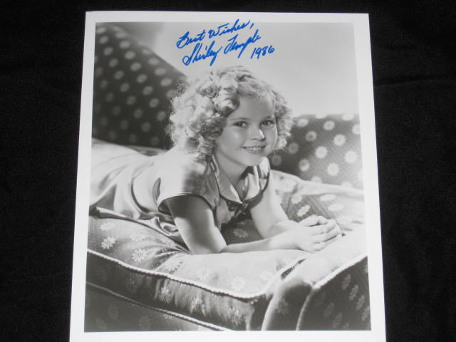 "Photo, Inscribed, 8"" x 10"", Black and White. Shirley Temple."