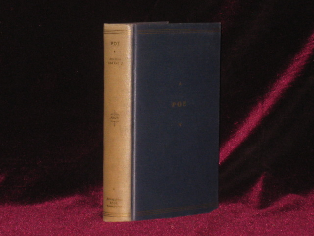 Edgar Allan Poe. Representative Selections with Introduction, Bibliography and Notes. American Writers Series. Margaret ALTERTON, Hardin Craig, Edgar Allan Poe.