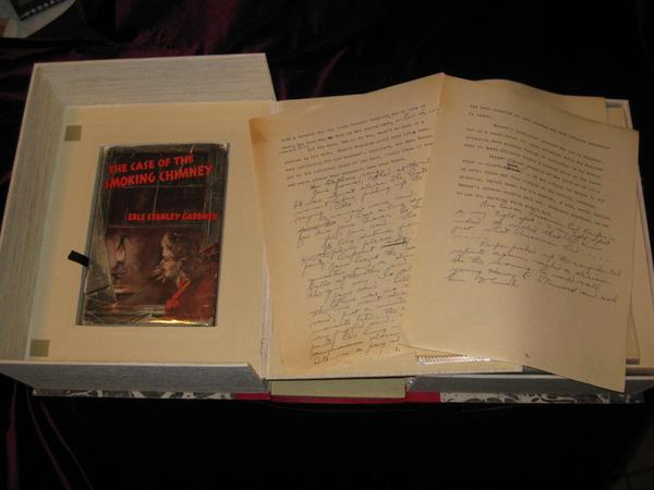 Manuscript / Typescript. The Case of the Smoking Chimney (with Holograph Corrections and Text Added By Gardner, Sometimes Adding an Entire page). Erle Stanley Gardner.