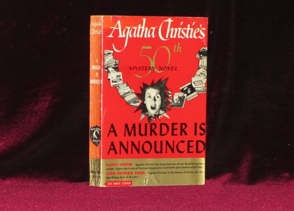 A MURDER IS ANNOUNCED [50th Mystery Novel]. Agatha Christie.