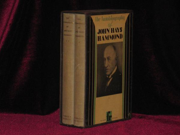 THE AUTOBIOGRAPHY OF JOHN HAYS HAMMOND [Anita Loos Copy with Her Art Deco bookplate]. John Hays Hammond, Anita Loos, SIGNED.