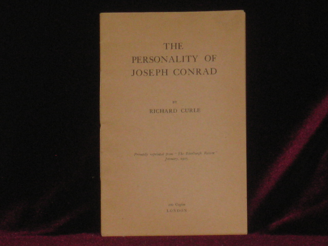 THE PERSONALITY OF JOSEPH CONRAD. Richard Curle.