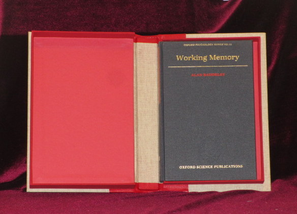 WORKING MEMORY (Francis Crick's Copy). Alan Baddeley, Francis Crick.