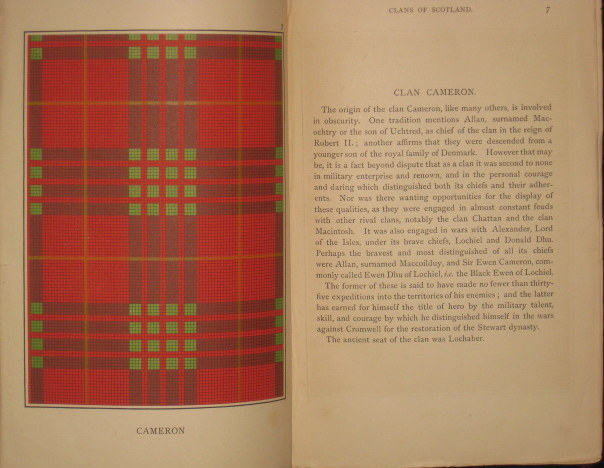 Sketches of the Clans of Scotland, with Colored Plates of Tartans. J. M. P.- F. W. S. Clansmen.
