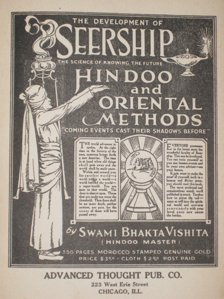 The development of seership: The science of knowing the future : Hindoo and oriental methods