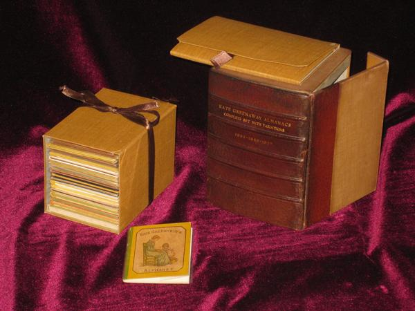 Almanacks for 1883-1895 and 1897, with Many Varieties, 21 Volumes; with Alphabet. Kate Greenaway.