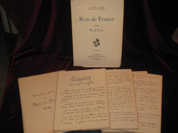 Rois De France. Original Manuscript. Paul Fort.