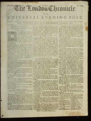 The London Chronicle or, Universal Evening Post. J. At the Bible Wilkie
