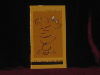 WHAT IS POETRY. Lawrence FERLINGHETTI, SIGNED