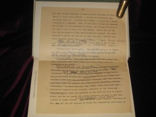 LYDIA BAILEY - Signed and with a Page of Heavily Annotated, By the Author, Typescript Tipped in