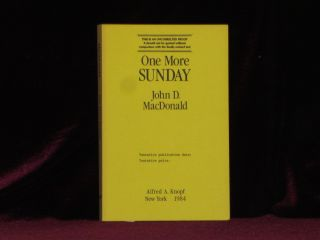 ONE MORE SUNDAY. John D. MacDonald.