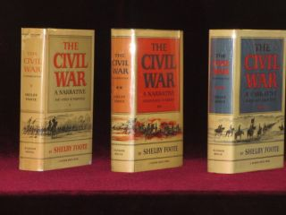 The Civil War. SIGNED IN VOLUME ONE. Shelby Foote.