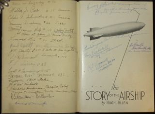 "The Story of the Airship [Pioneer Aviator Will D. ""Billy"" Parker's Copy, Signed By Him and More Than 3 Dozen Early Aviators Attendees of the 1931 Cleveland Airshow] Zeppelin, Blimp. Hugh Allen."