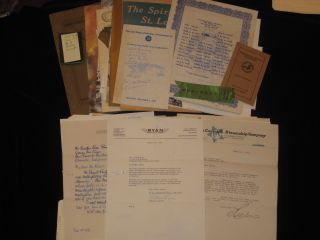 "Pilot License, Aviator's Certificate, Signed By Orville Wright and Douglas ""Wrong Way"" Corrigan Together with 3 Cowling Rings and a Piece of Fabric from the Spirit of St. Louis with Photos and Documents Related to Early Aviation"