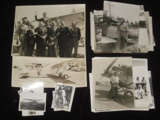 """Pilot License, Aviator's Certificate, Signed By Orville Wright and Douglas """"Wrong Way"""" Corrigan Together with 3 Cowling Rings and a Piece of Fabric from the Spirit of St. Louis with Photos and Documents Related to Early Aviation"""