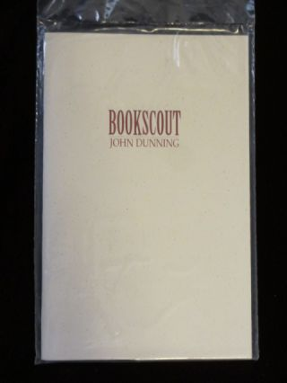 BOOKSCOUT. John DUNNING, SIGNED