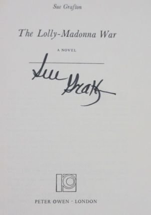 THE LOLLY-MADONNA WAR with Original Publisher's Contract for Book