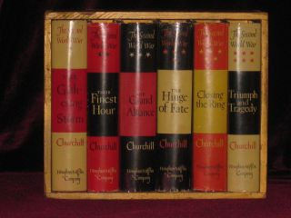 The Second World War (in Publisher's Original Wooden box). Sir Winston S. Churchill.