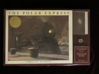 THE POLAR EXPRESS. [Gift Set In Box with Cassette Tape and Jingle Bell]. Chris VAN ALLSBURG.