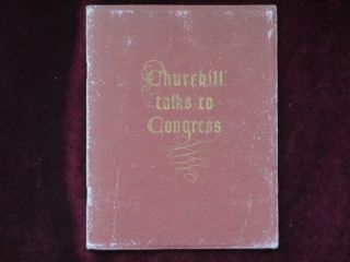 CHURCHILL TALKS TO CONGRESS. December Twenty-Sixth, Nineteen Forty-One
