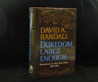 DUKEDOM LARGE ENOUGH. David A. RANDALL