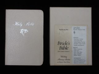 BRIDE'S BIBLE. KING JAMES VERSON. Bible.