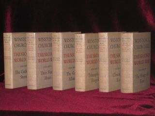 The Second World War (Six Volumes in Fine Dust jackets). Sir Winston S. Churchill