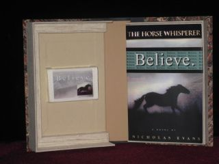 The Horse Whisperer [ with Publisher's Promotional Cassette and Custom Clamshell box). Nicholas...