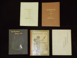 Almanacks for 1883-1895 and 1897, A Complete Set, 17 Volumes (3 are duplicates) Almanack