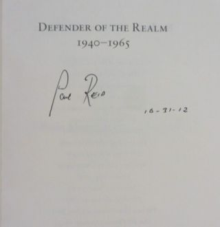 The Last Lion (3 volumes); Volume I, Visions of Glory, 1874-1932; Volume 2, Alone, 1932-1940 (Inscribed); Volume 3, Defender of the Realm, 1940-1965 (Signed)