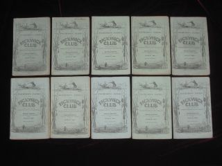 The Posthumous Papers of the Pickwick Club - 20 Parts in 19 - A NEAR PRIME SET, Having 8 of 11 Points Required