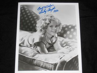 "Photo, Inscribed, 8"" x 10"", Black and White. Shirley Temple"