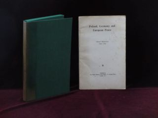 Poland, Germany and European Peace. Official Documents 1944 - 1948. Winston S. Churchill, M. V....