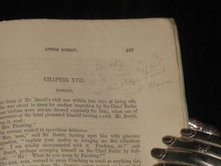 Little Dorrit (20 Parts in 19) Annotated By Dickens Bibliographer Thomas Hatton.