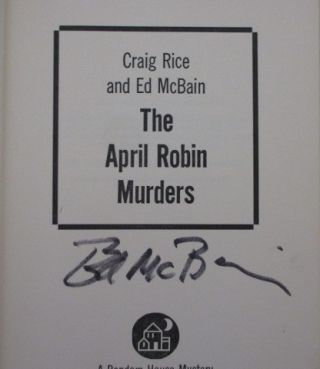 The April Robin Murders (Signed)